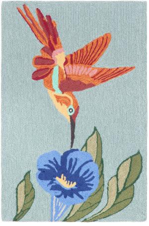 Trans-Ocean Frontporch Hummingbird 1527/03 Sky Area Rug
