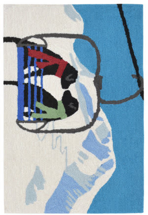 Trans-Ocean Frontporch Ski Lift Love 1842/11 Winter Area Rug