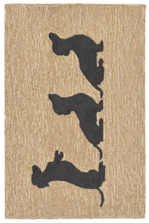 Trans-Ocean Frontporch Doxies Natural Area Rug