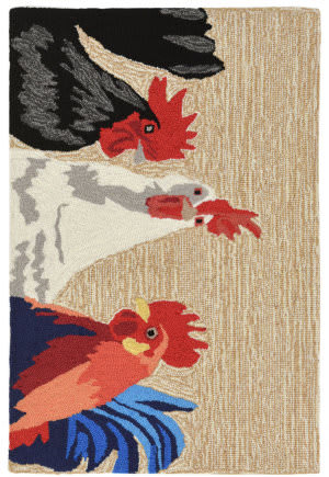 Black Rooster Rug At Rug Studio