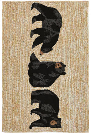 Trans-Ocean Frontporch Bears 2414/12 Neutral Area Rug
