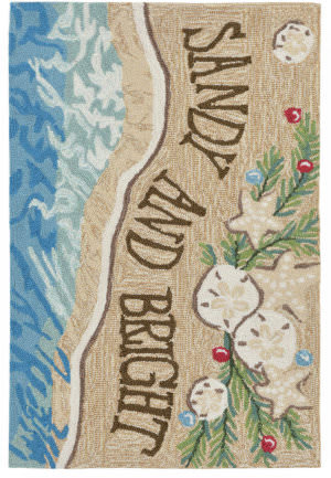 Trans-Ocean Frontporch Sandy And Bright 2422/12 Sand Area Rug