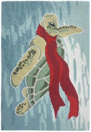 Trans-Ocean Frontporch Turtle Season 4280/04 Ocean Area Rug