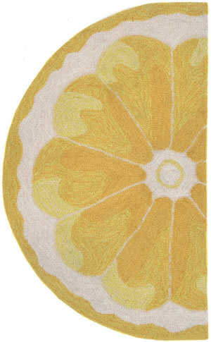 Trans-Ocean Frontporch Lemon Slice 1556/09 Yellow Area Rug
