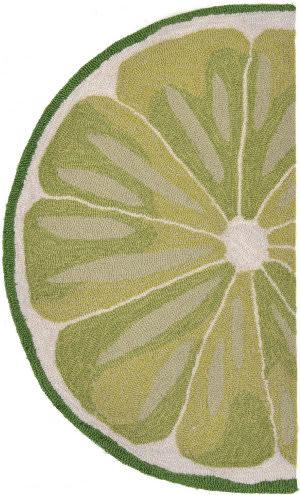 Trans-Ocean Frontporch Lime Slice 1557/06 Green Area Rug