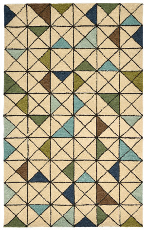 Trans-Ocean Inca Triangle Blue Area Rug