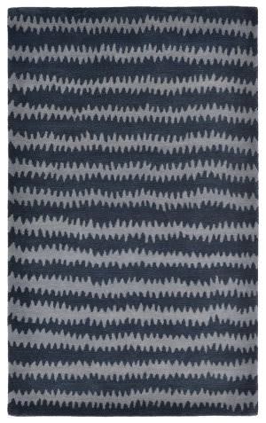 Trans-Ocean Inca Ikat Chevron Blue Area Rug