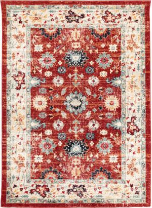 Trans-Ocean Legacy Persian Border 7523/17 Orange Area Rug