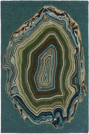 Trans-Ocean Lalunita Agate 6038/94 Aqua Area Rug