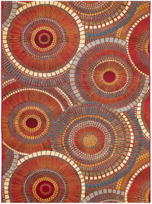 Trans-Ocean Marina Circles 8035/17 Orange Area Rug