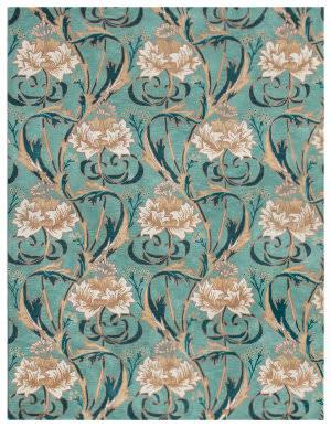 Trans-Ocean Nouveau Floral Blue Area Rug