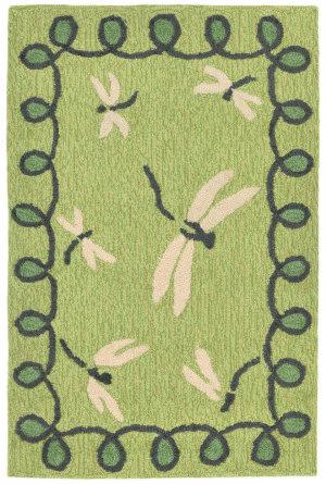 Trans-Ocean Napa Dragonfly Green Area Rug