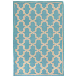 Trans-Ocean Napoli Global Geo 7414/94 Turquoise Area Rug