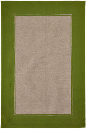 Trans-Ocean Napoli Border 7420/06 Green Area Rug