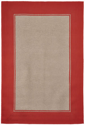 Trans-Ocean Napoli Border 7420/17 Orange Area Rug