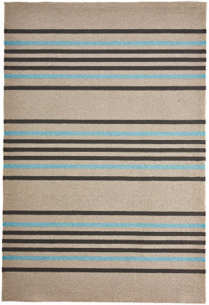 Trans-Ocean Napoli Stripe 7421/04 Turquoise Area Rug