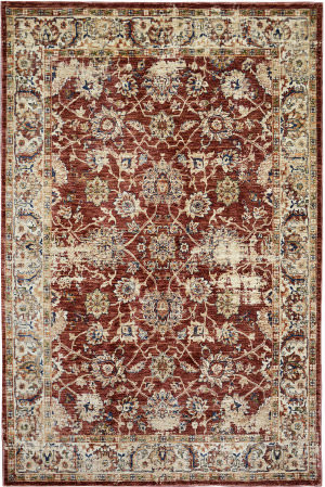 Trans-Ocean Palace Isfahan 8571/24 Red Area Rug