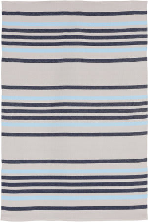 Trans-Ocean Plaza Stripe 7858/33 Navy Area Rug
