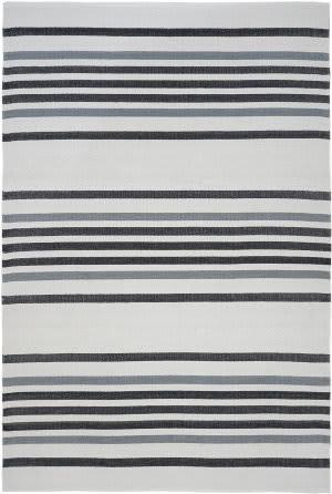 Trans-Ocean Plaza Stripe 7858/48 Black Area Rug