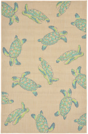 Trans-Ocean Playa Seaturtles 1358/33 Cool Area Rug