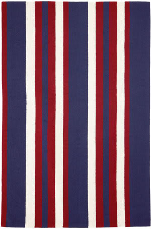 Trans-Ocean Portsmouth Nautical Stripe 6677/14 American Area Rug