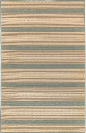 Trans-Ocean Riviera Stripe 7640/04 Blue Area Rug