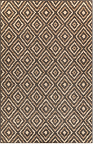 Trans-Ocean Riviera Nested Diamond 7641/12 Tan Area Rug