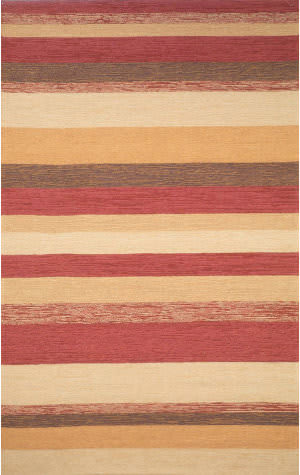 Trans-Ocean Ravella Stripe 1900/24 Red Area Rug