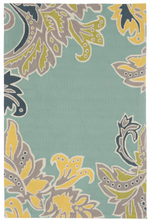 Trans-Ocean Ravella Ornamental Leaf Border 1947/03 Water Area Rug