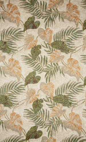 Trans-Ocean Ravella Tropical Leaf 2066/12 Neutral Area Rug