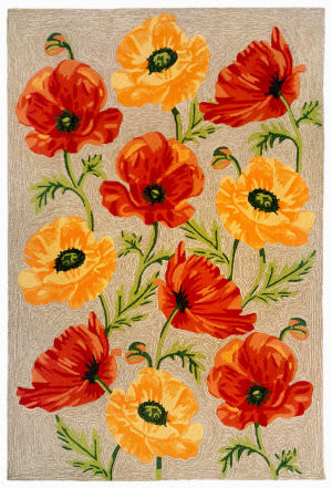 Trans-Ocean Ravella Icelandic Poppies 2272/12 Neutral Area Rug