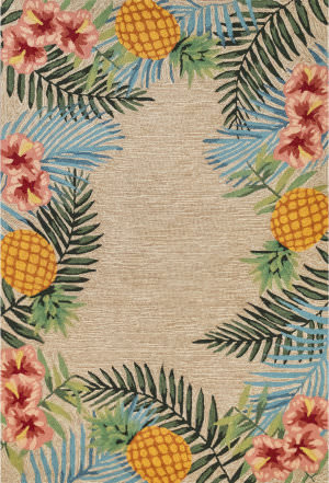 Trans-Ocean Ravella Tropical 2280/12 Natural Area Rug