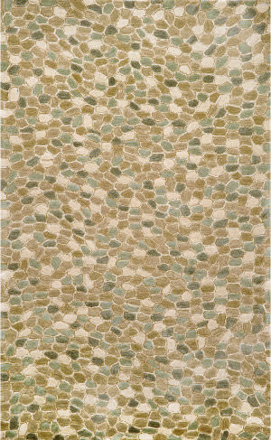 Trans-Ocean Spello Pebbles 1965/03 Blue Area Rug
