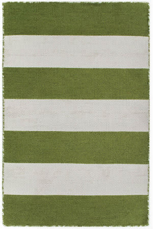 Trans-Ocean Sorrento Rugby Stripe 6302/06 Green Area Rug