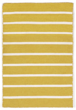 Trans-Ocean Sorrento Pinstripe Yellow Area Rug