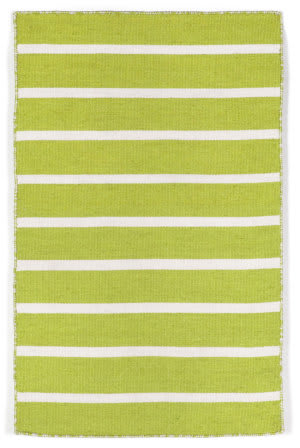 Trans-Ocean Sorrento Pinstripe Lime Area Rug