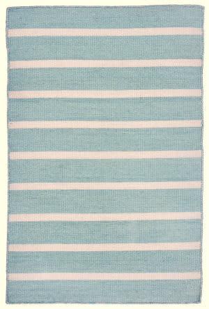 Trans-Ocean Sorrento Pinstripe Blue Area Rug
