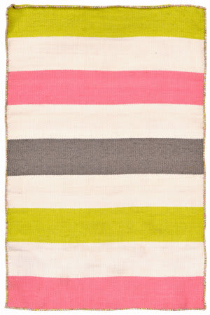 Trans-Ocean Sorrento Fiesta Stripe Pink Area Rug