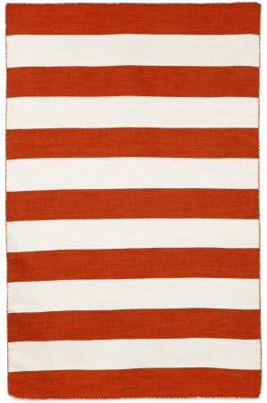 Trans-Ocean Sorrento Rugby Stripe 6302/17 Paprika Area Rug