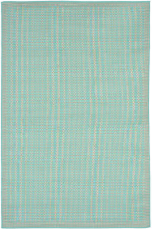 Trans-Ocean Terrace Texture 1762/93 Turquoise Area Rug
