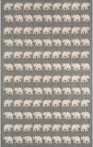 Trans-Ocean Terrace Elephants 1767/68 Silver Area Rug