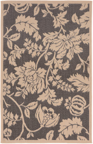 Trans-Ocean Terrace Floral 1779/77 Charcoal Area Rug