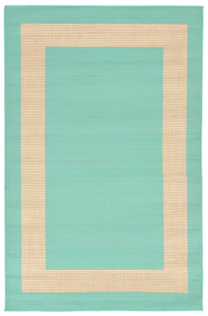 Trans-Ocean Terrace Border Blue Area Rug