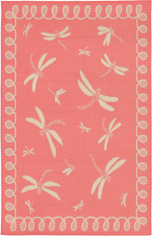 Trans-Ocean Terrace Dragonfly 1791/27 Coral Area Rug