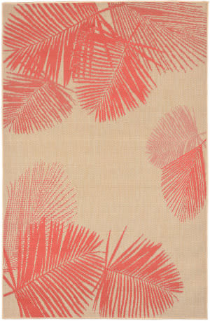 Trans-Ocean Terrace Palm 1792/17 Coral Area Rug