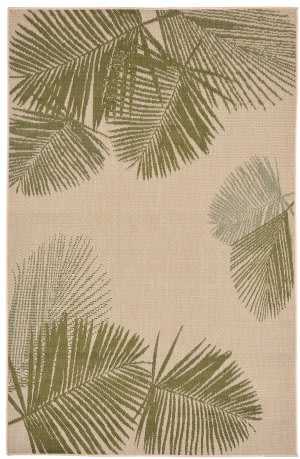Trans-Ocean Terrace Palm 1792/66 Green Area Rug