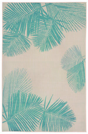 Trans-Ocean Terrace Palm 1792/73 Turquoise Area Rug