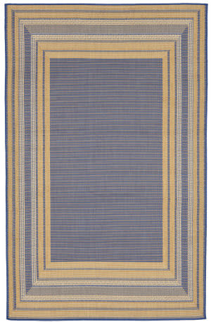 Trans-Ocean Terrace Etched Border 2761/53 Topaz Area Rug