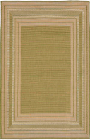 Trans-Ocean Terrace Etched Border 2761/56 Meadow Area Rug
