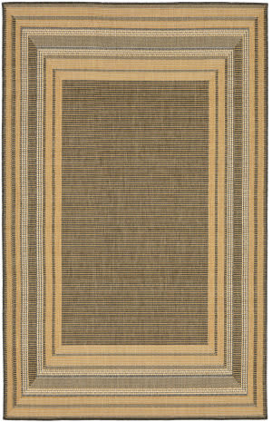 Trans-Ocean Terrace Etched Border 2761/82 Slate Area Rug